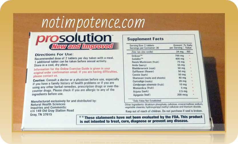 prosolution ingredients